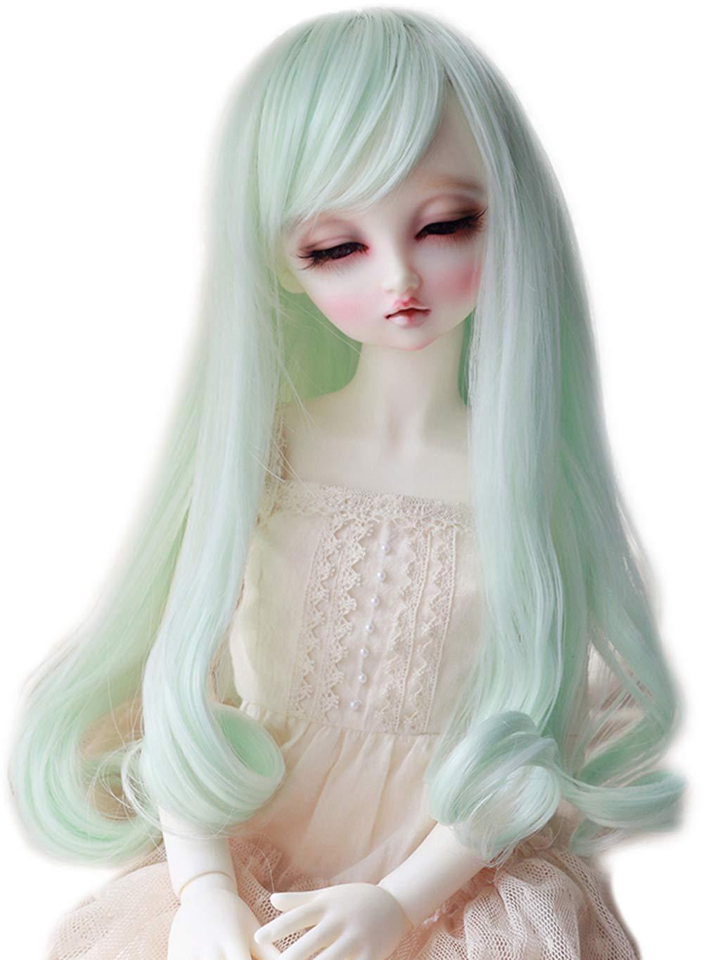 5c1e9fb1d1be4 Linfairy 8-9 inch 1/3 BJD Wig Doll Hair SD DZ DD DOD LUTS Long Wig (Mint)