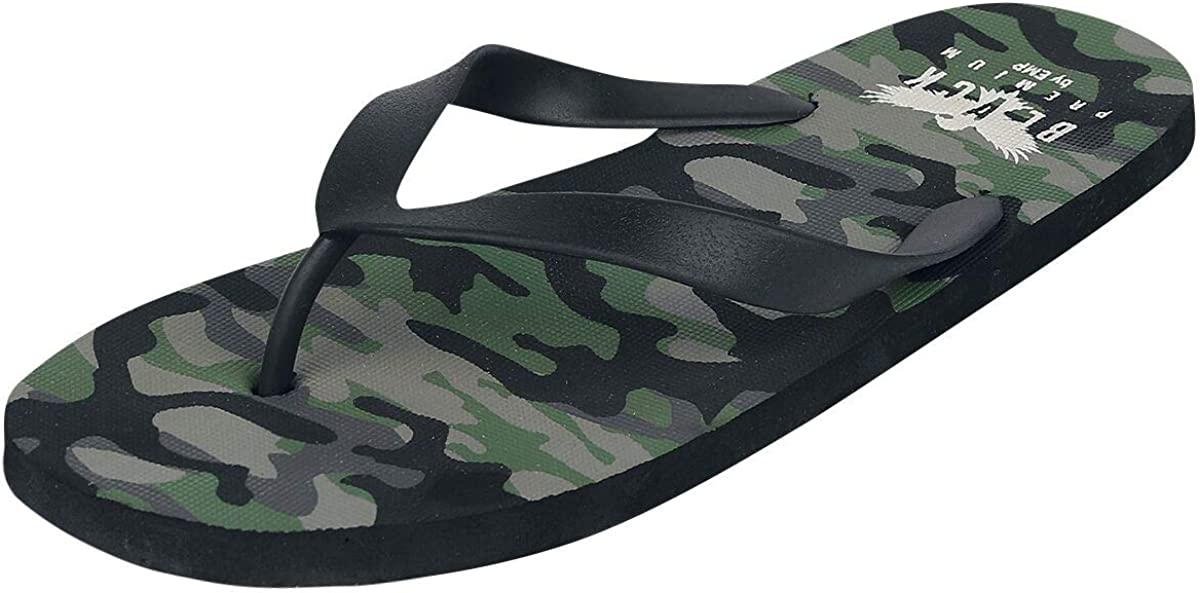 Black Premium by EMP Swimming After The Walk at The Beach Unisexe Tongs Camouflage,