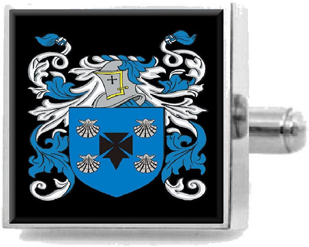 Select Gifts Read England Heraldry Crest Sterling Silver Cufflinks Engraved Message Box