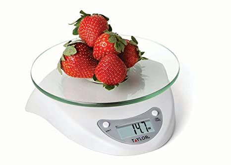 Excellent Taylor Precision Products Biggest Loser 6 6 Pound Kitchen Scale With Glass Platform White Complete Home Design Collection Epsylindsey Bellcom