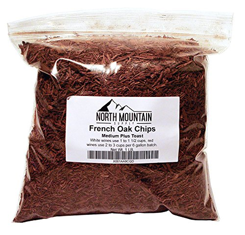 (North Mountain Supply French Oak Chips (Medium Plus, 1 Pound))