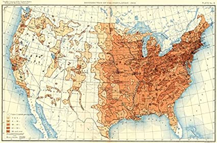 Amazon.com: USA. Population distribution. 1900   1900   old map
