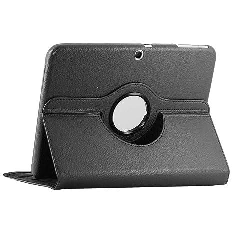 ebestStar - Compatible Funda Samsung Galaxy Tab 3 10.1 GT-P5210, 10 P5200 P5220 Carcasa Cuero PU, Giratoria 360 Grados, Función de Soporte, Negro ...