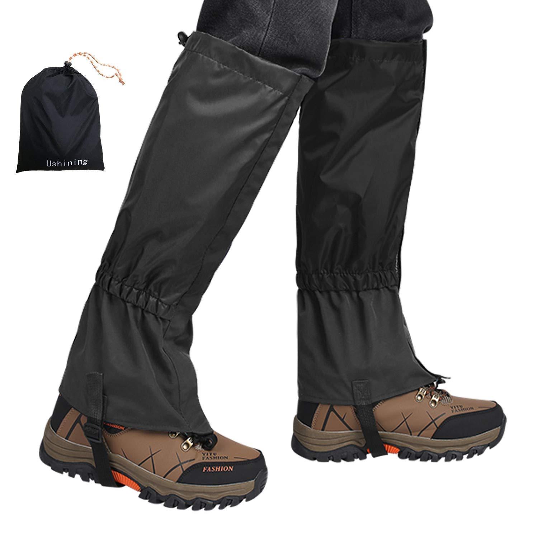 USHINING Leg Gaiters Lightweight Waterproof Ankle Gaiters for Climbing Hiking Walking Hunting