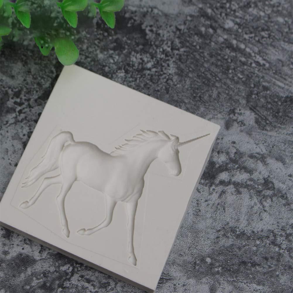 Ruikey Molde De Silicona De Forma De Unicornio Molde Silicona Fondant Molde De Torta Diy Decoraci/ón De Reposter/ía