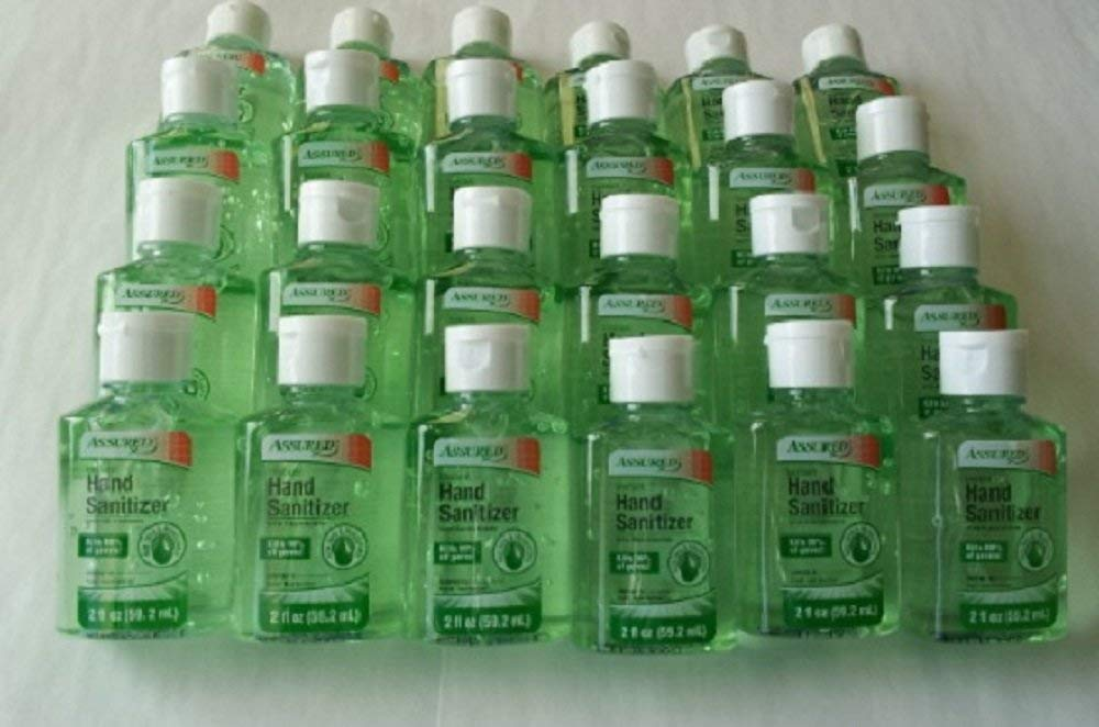 Instant Hand Sanitizer with Moisturizers and Vitamin E 2 Oz Travel Size Aloe Scent - Packaging May Vary (Pack of 24)