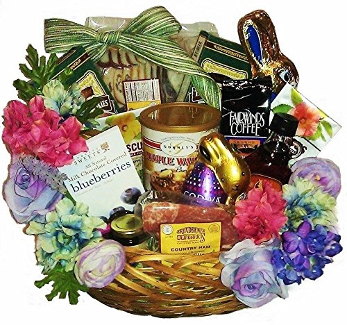 Deluxe Easter Breakfast Basket with Ham & Bacon by Goldspan Gift Baskets