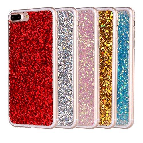 MXNET IPhone 7 Plus Case, Glitzer Powder Soft TPU Schutzhülle CASE FÜR IPHONE 7 PLUS ( Color : Pink )