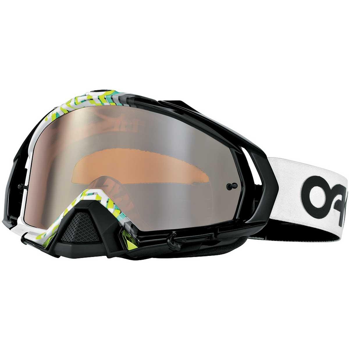 Oakley Mayhem MX Factory Fade Goggles (White Frame/Black Iridium Lens)