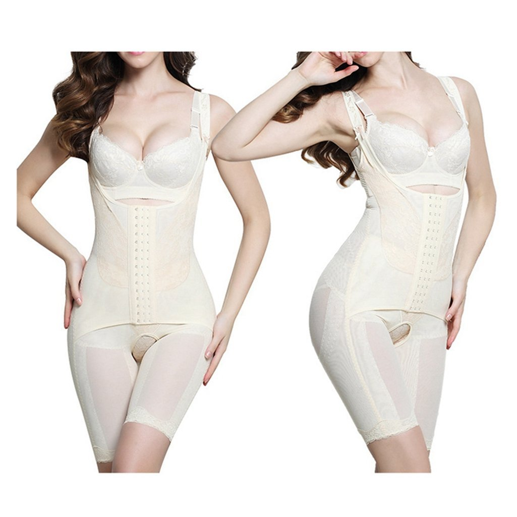94c27a59f60b5 Amazon.com  U-MAC Seamless Body Shaper Bodysuits Women Waist Cincher  Reducer Shapewear Underbust Corset  Clothing