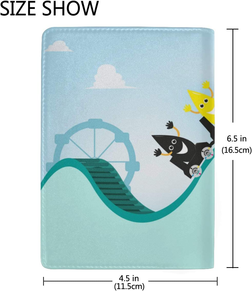 Uk Passport Cover A Thrilling Game Roller Coaster Stylish Pu Leather Travel Accessories Passport Case Girls For Women Men