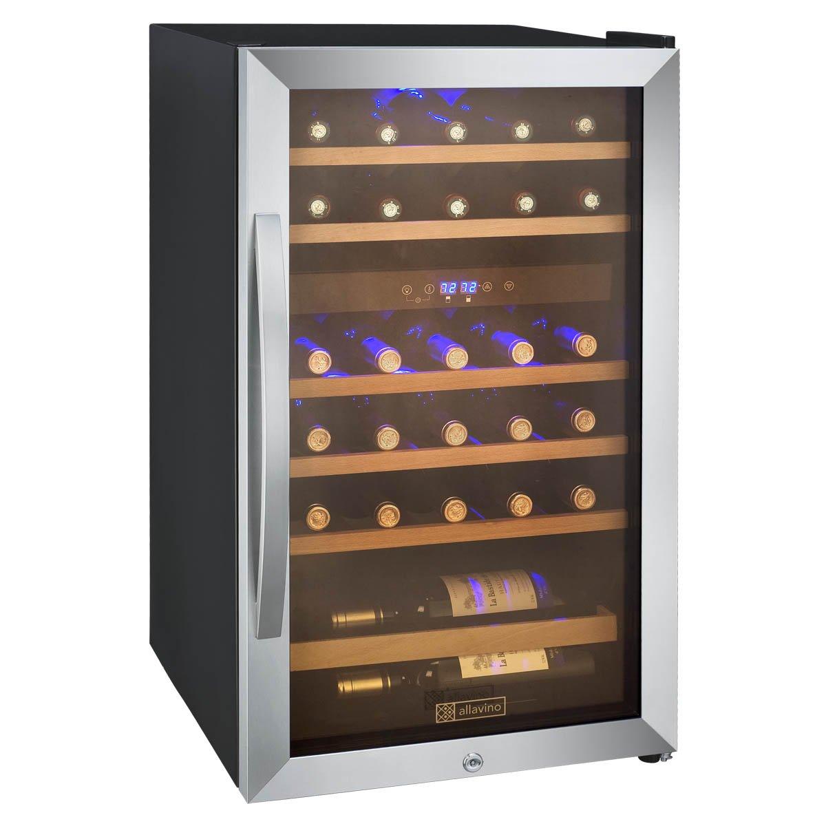 amazoncom allavino cdwr292swt cascina series 29 bottle dual zone wine appliances