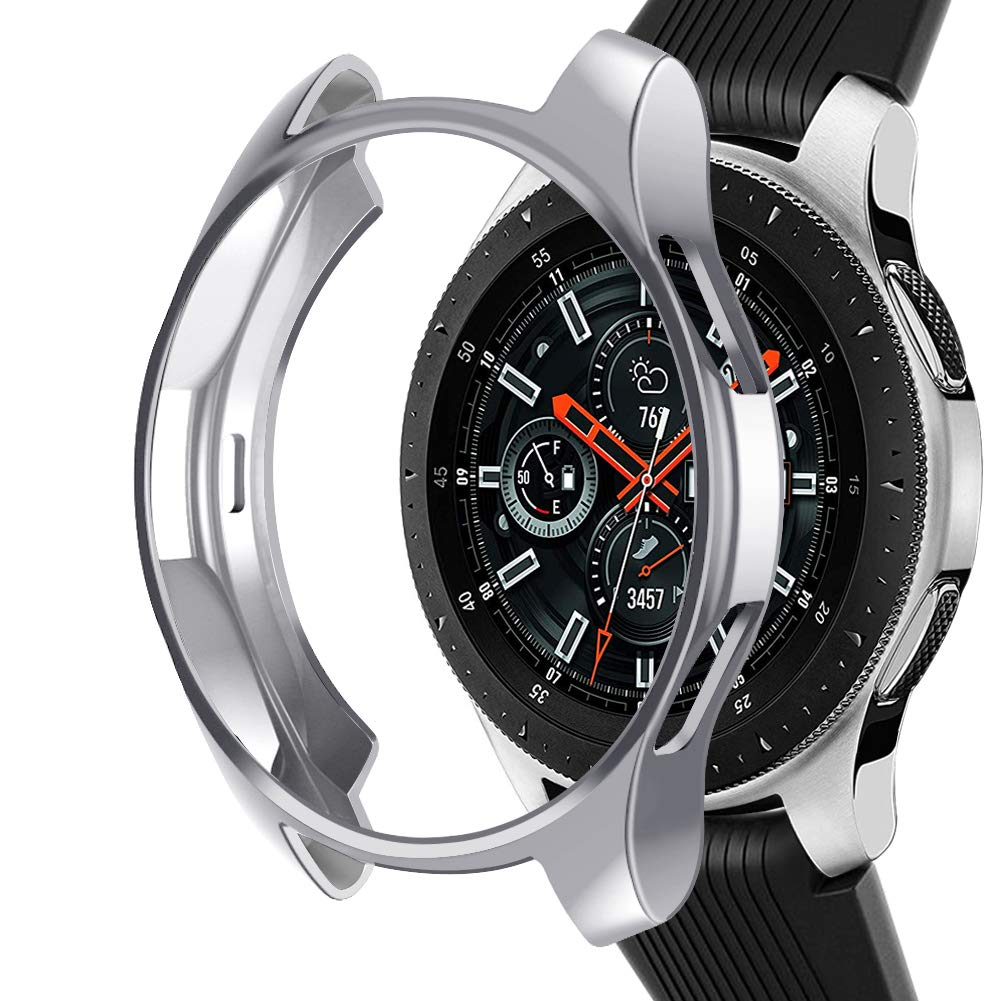 Case Compatible Samsung Galaxy Watch 46mm, NaHai TPU Slim Plated Case Shock-Proof Cover All-Around Protective Bumper Shell for Galaxy Watch 46mm ...