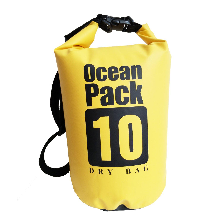 5l / 10l / 20l防水乾燥バッグを保護するプロパティ安全、ボート、釣り、ラフティング、水泳、キャンプ、ハイキング B071G8DWR3 5L イエロー イエロー 5L