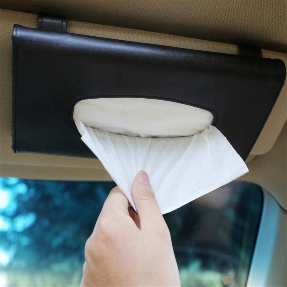 f/ür Auto und Dekoration youngfate Taschentuch-Halter Auto Sonnenblende Serviettenhalter zum Aufh/ängen PU-Leder Taschentuch-Box