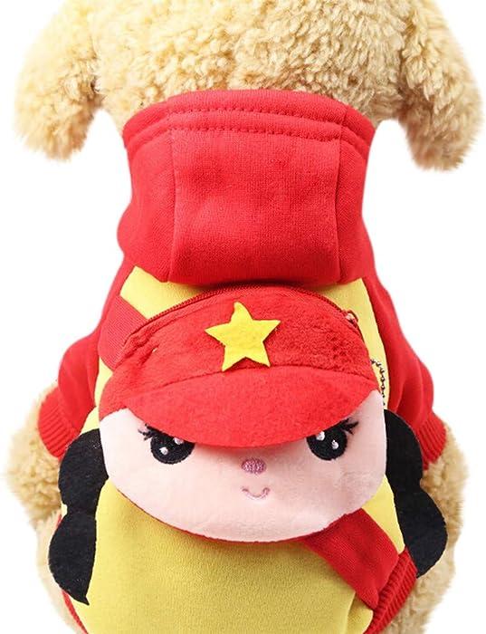 Ropa para Mascotas,Dragon868 Mascota Perros Cartoon Sudaderas con Capucha con Bolsillo