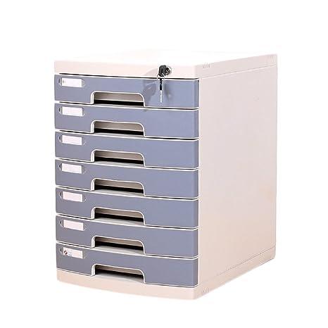 Archivadores Escritorio de Escritorio con Cerradura Cajón de 7 Capas Tipo de Archivo A4 Oficina (