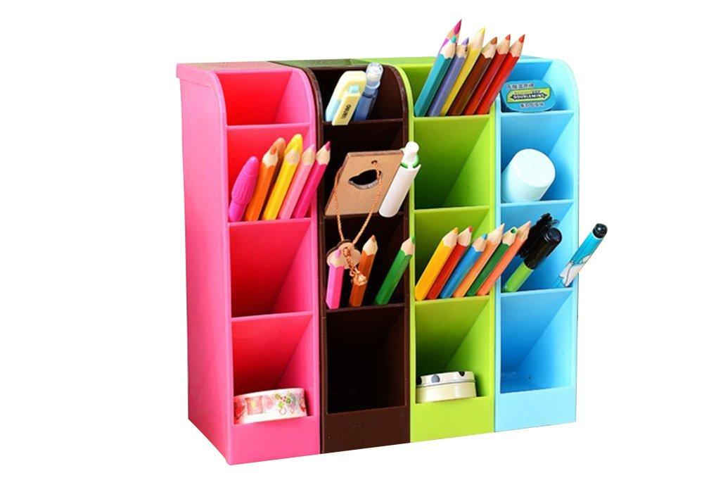 Jungen boîte de rangement stylos et crayons multifonction pot de