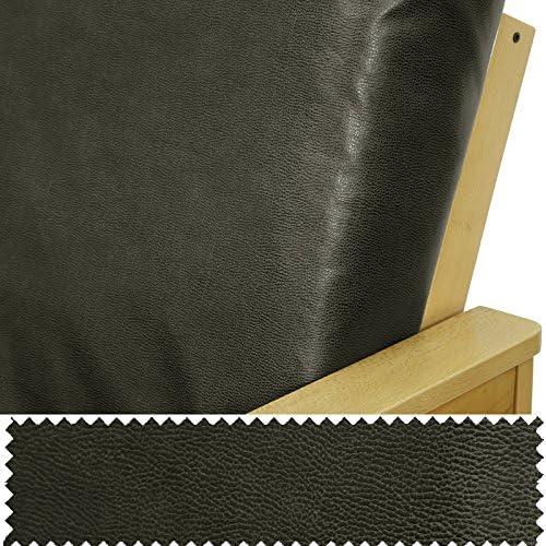Faux Leather Graphite Full Futon Cover 250