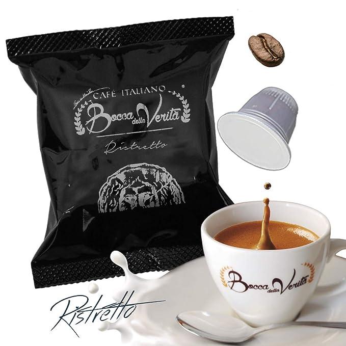 Café cápsula Espresso RISTRETTO ARÁBICA Nespresso compatible | 100 Cápsulas Bocca Della Veritá | Café Italiano