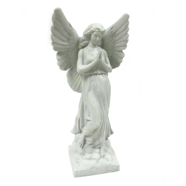 amazon com sculptural gardens 23 inch guardian angel statuary