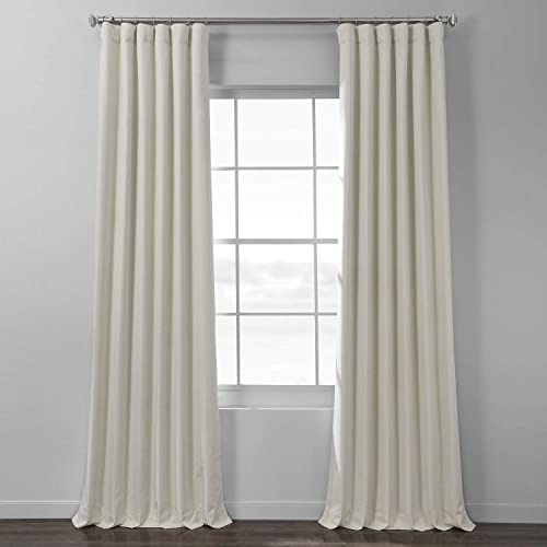 HPD Half Price Drapes FLCH-BO19022-108 Italian Textured Faux Linen Hotel Blackout Curtain 1 Panel