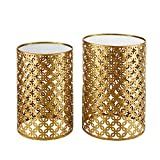 Linon AMZN0341 Alina Round Nesting Tables (Set of 2), Gold