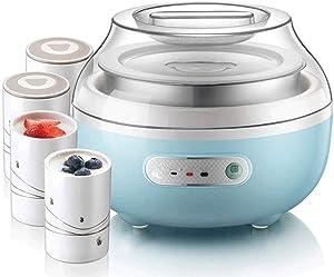 XSWZAQ Dash Yogurt Maker Machine with Stainless Steel Base, Auto Timer + 4 Jars Perfect for Homemade Baby Yogurt, Kids Yogurt, or Grab and Go Breakfast