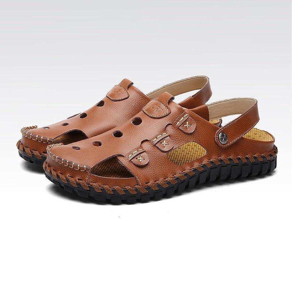 Sommer Breathable Beiläufige Sandelholze Baotou Strand ROT Beschuht Weiche Sohlen-Pantoffel-Männer Schuhe ROT Strand 5663c7