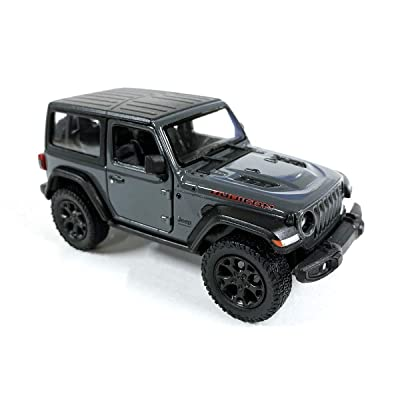 Jeep Wrangler Rubicon 4x4 Hard Top Off Road Exploration Diecast Model Toy Car Grey: Toys & Games