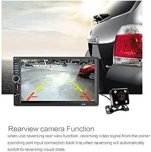 Lemoning 7 Inch Double 2DIN Car MP5 Player BT TOU.ch Screen Stereo Radio HD+Camera