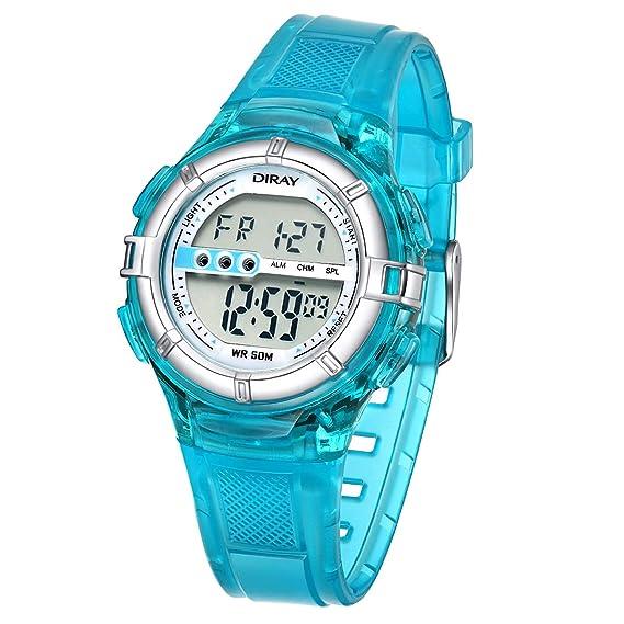 Reloj Digital Niño, Relojes de los Niños Flash Luces 50M Impermeable Digital Niños Niñas Reloj
