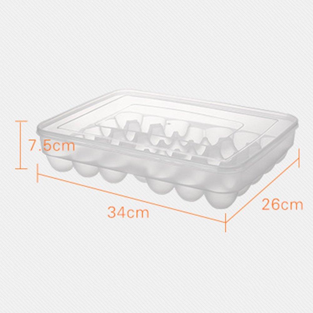Prokth Egg bac pour r/éfrig/érateur Plastique avec couvercle 34/Compartiment monocouche Oeuf pr/éservation bac Fresh Box
