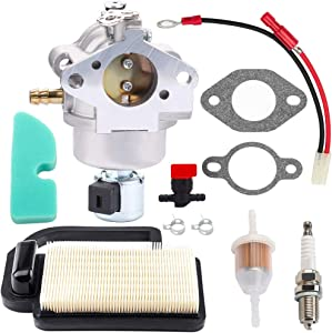 Venseri 20-853-33-S Carburetor with 20 083 02-S Air Filter for Kohler Courage SV470 SV480 SV530 SV540 SV541 SV590 SV591 SV600 SV601 SV610 SV620 CV491 Engine