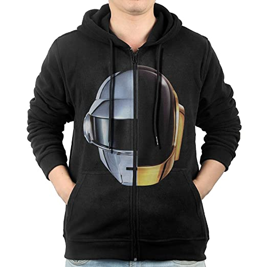 929a53318b Rock Band Daft Punk Men Full Zip Hoodie Kangaroo Pocket at Amazon ...