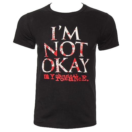 398e8ef2 Amazon.com: My Chemical Romance Men's I'm Not Okay Splatter T Shirt ...