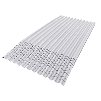 ONDURA 107 Corrugated Asphalt Roofing (10 Pack), White