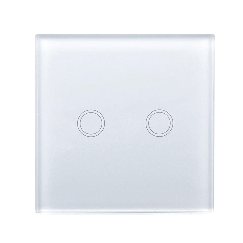 Gosear Interruptor de Pantalla tactil Champa/ña Dorado Interruptor de la Pared del Tacto Inteligente Interruptor de luz Touch con inal/ámbrico Mando a Distancia