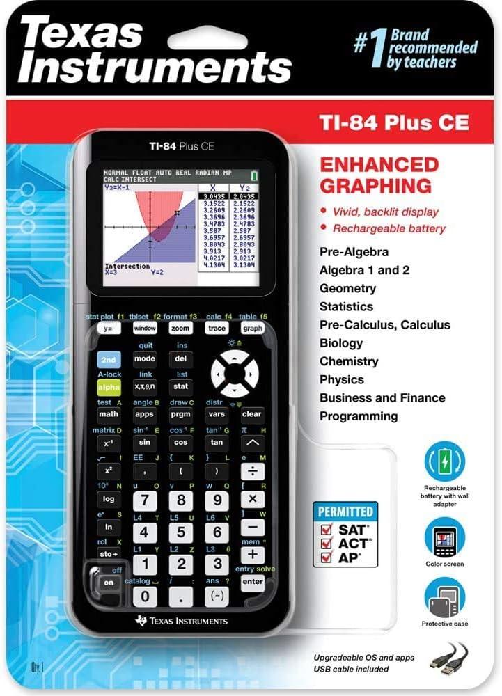Amazon.com : Texas Instruments TI-84 Plus CE Color Graphing ...