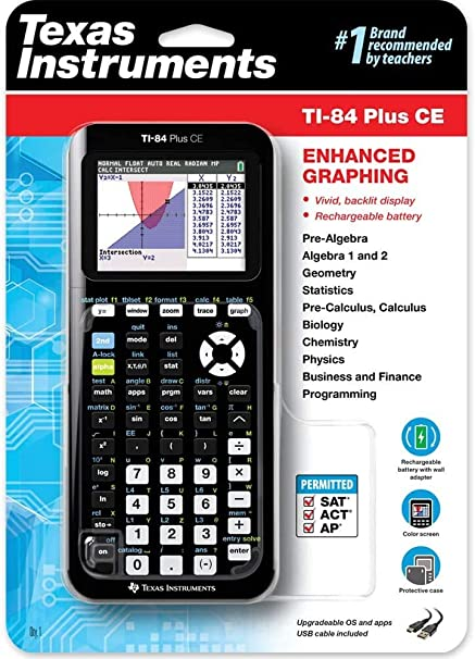 Brand New Black Texas Instruments TI-84 Plus CE Graphing Calculator