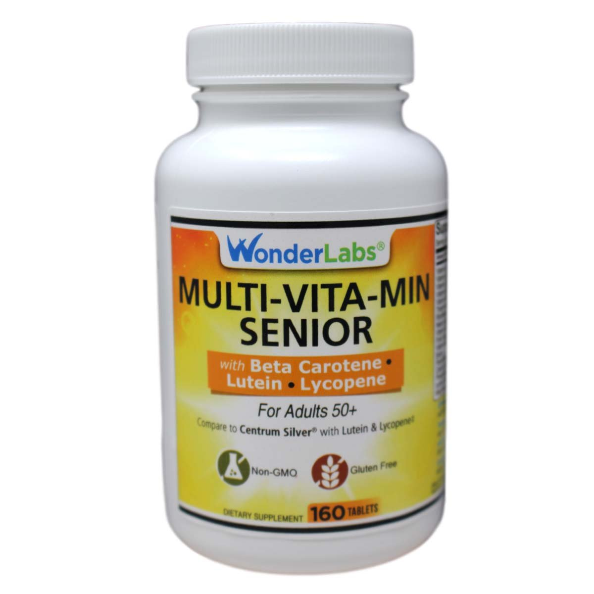 Multi-vitamin Multi-mineral Compare to Centrum Silver® Multivitamin Multimineral with Beta Carotene Especially for Adults 50 Plus - 160 Tablets #2912