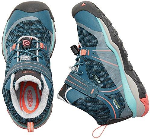 Pictures of KEEN Unisex Terradora MID WP Hiking Shoe 1018385 Aqua Sea/Coral 2
