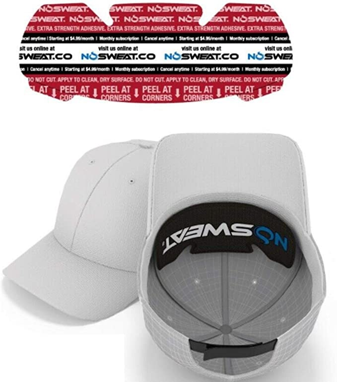 Golf Hat Sweat Liner – Made in The USA - Prevents Stains & Odor - Patented Technology 3   6   12   25   50 Pack