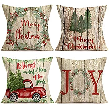 Amazon Com W A Portman Christmas Pillow Case Covers 18 X