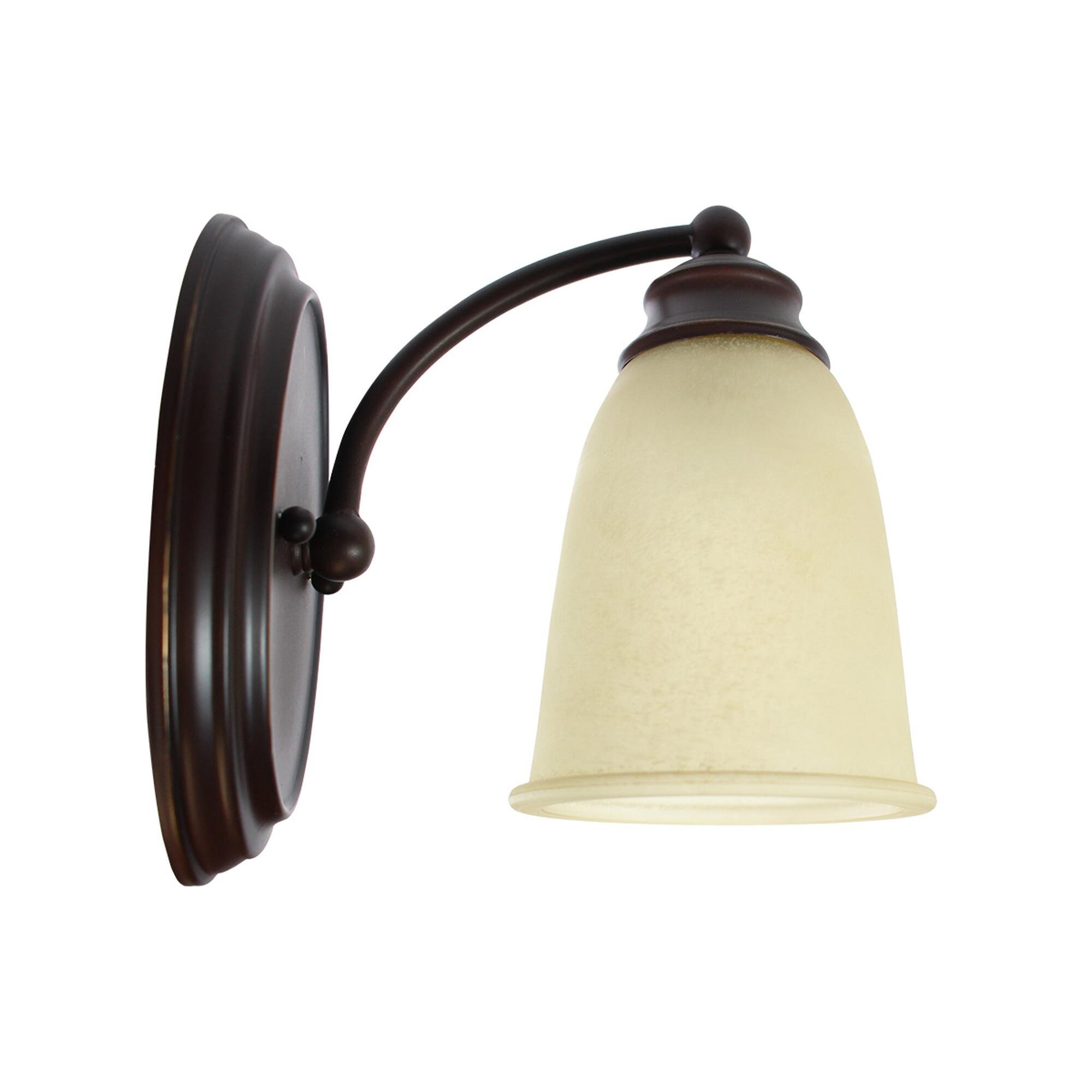 Capital Lighting 1-Light Transitional 5.5''w Sconce with Mediterranean Bronze Finish and Warm Scavo Glass by Capital Lighting