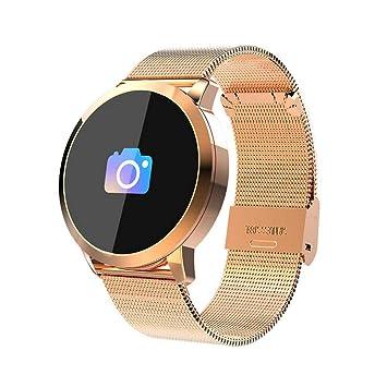 Q8 Reloj Inteligente, Waterproof Smartwatch con cámara para hombre mujer niños, rastreador de fitness