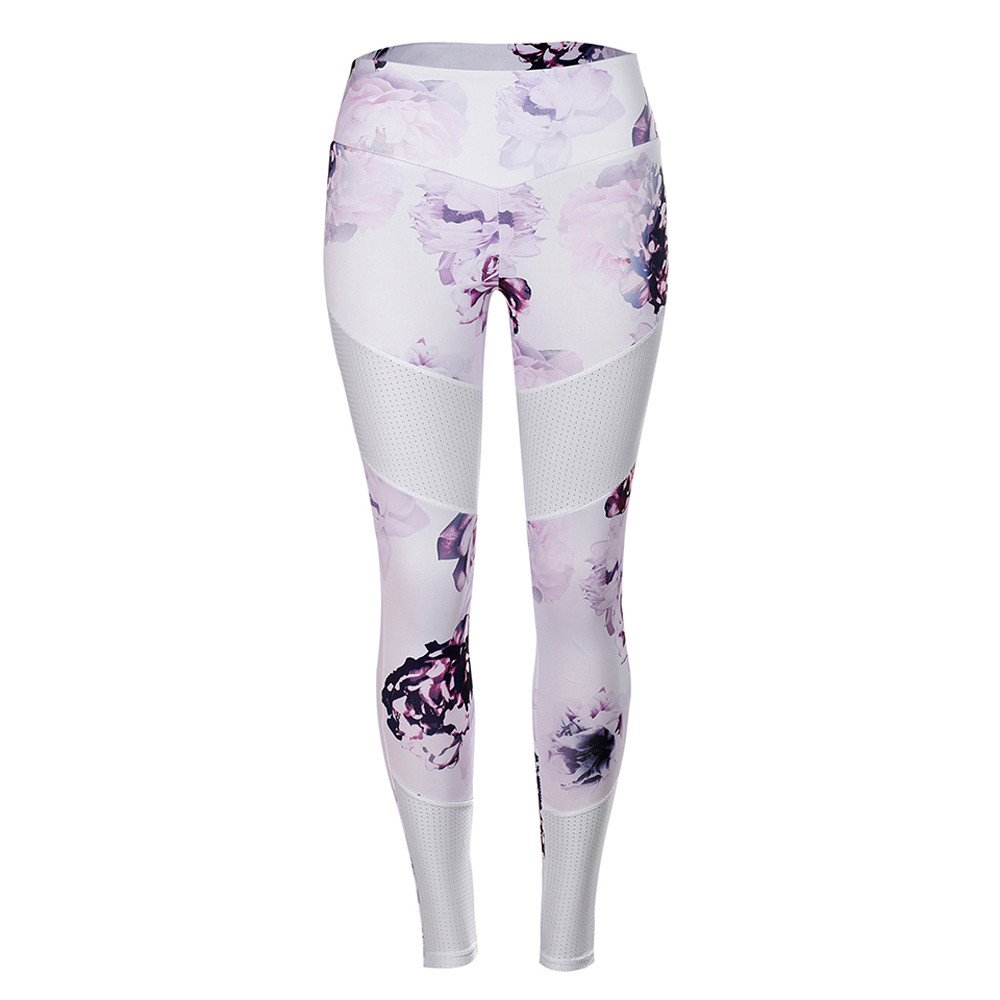 a208c1ff4f093 Amazon.com: URIBAKE ❤ Women's Fitness Leggings High Waist Floral Print  Tights Sports Gym Yoga Running Athletic Pants: Clothing