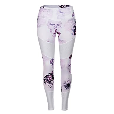 545a6a9ae447f5 Amazon.com: URIBAKE ❤ Women's Fitness Leggings High Waist Floral Print Tights  Sports Gym Yoga Running Athletic Pants: Clothing