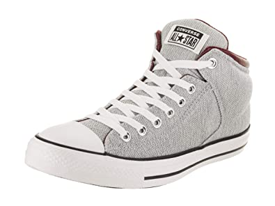 08bb27bda8358f Converse Unisex Chuck Taylor All Star High Street Hi White Dark Burgundy  Casual Shoe 10