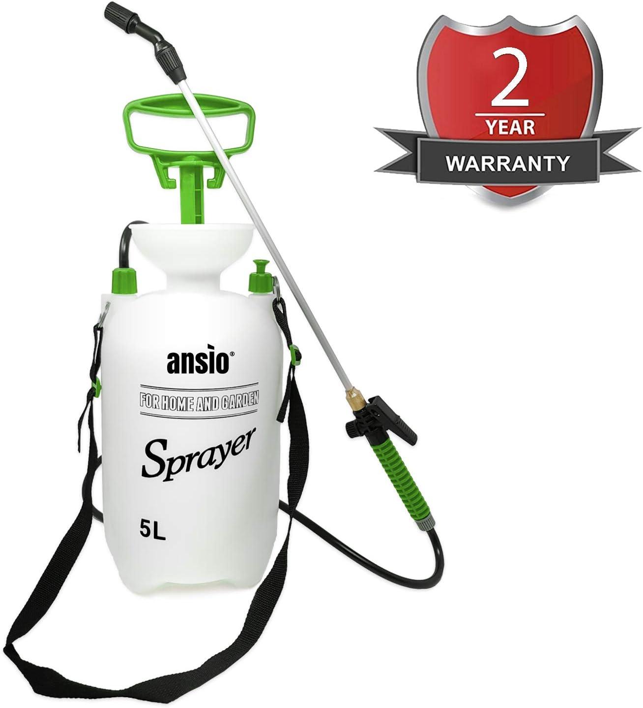 Pulverizador de jardín Pulverizador de presión Acción de Bomba, Ideal con herbicidas, pesticidas, herbicidas, insecticidas, fungicidas - Pulverizador de Bomba de Agua (5 L)